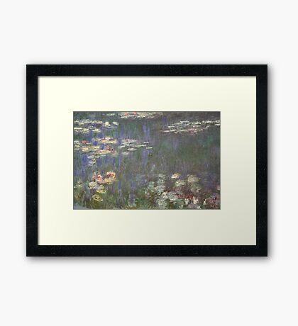 Monet's Water Lilies (Orangerie, Paris) Framed Print
