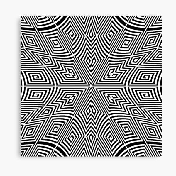 Pattern, Monochrome, Symmetrical Canvas Print