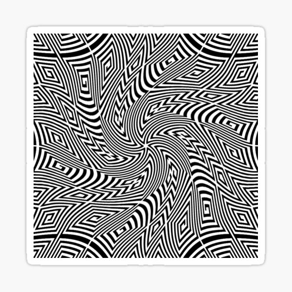 #Pattern, #funky, #repetition, #intricacy, endless, textile, repeat, illusion, abstract Sticker