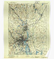 Massachusetts  USGS Historical Topo Map MA Providence 352965 1894 62500 Poster