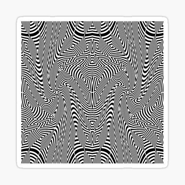 Psychedelic Hypnotic Visual Illusion Sticker
