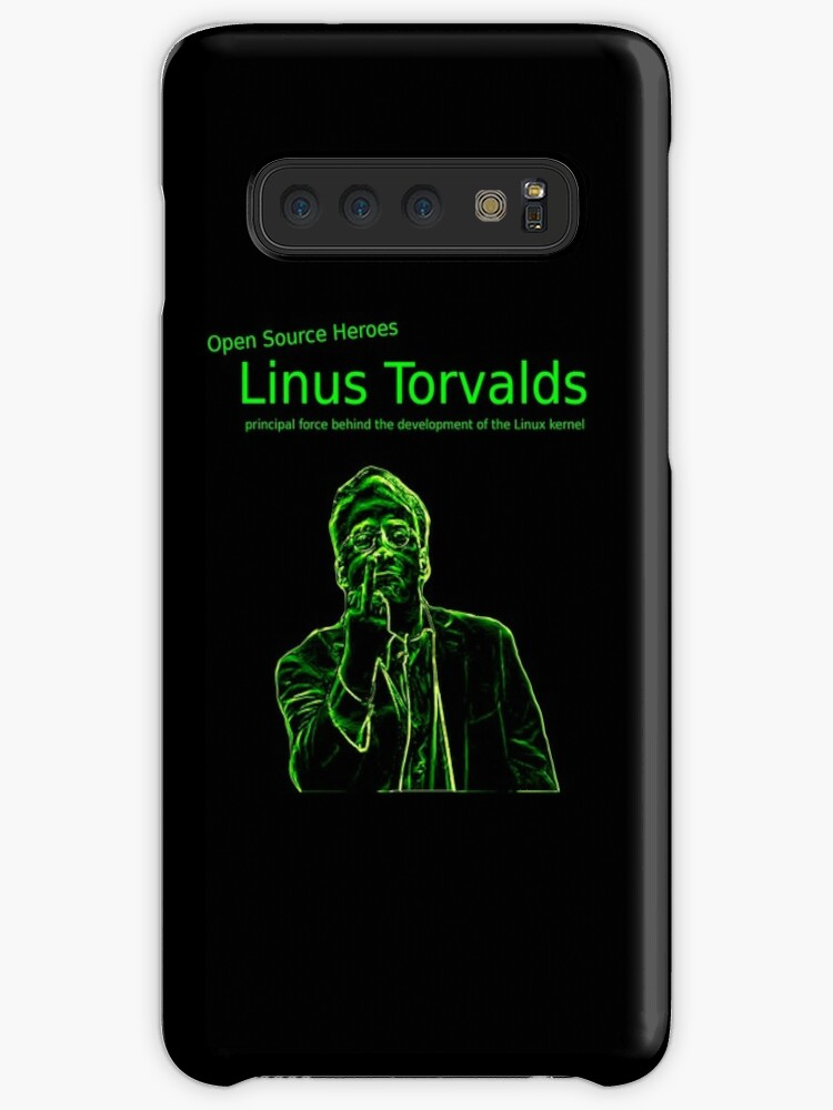 'Linux Open Source Heroes - Linus Torvalds' Case/Skin for Samsung Galaxy by  boscorat