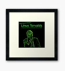 Linux Open Source Heroes - Linus Torvalds Framed Print