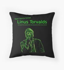 Linux Open Source Heroes - Linus Torvalds Throw Pillow