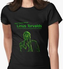 Linux Open Source Heroes - Linus Torvalds Women's Fitted T-Shirt