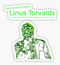 Linux Open Source Heroes - Linus Torvalds Sticker
