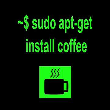 Linux sudo apt-get install coffee by boscorat