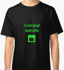 Linux sudo apt-get install coffee Classic T-Shirt