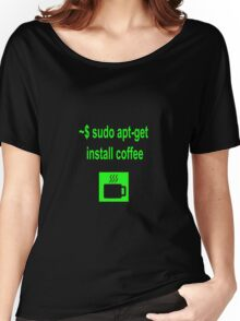 Linux sudo apt-get install coffee Women's Relaxed Fit T-Shirt