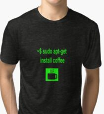 Linux sudo apt-get install coffee Tri-blend T-Shirt