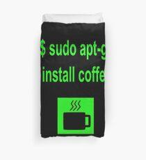 Linux sudo apt-get install coffee Duvet Cover