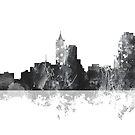 Raleigh, North Carolina Skyline - B & W von Marlene Watson