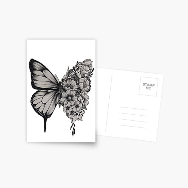 Butterfly Tattoo Shawn Mendes Postcard