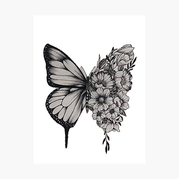 Butterfly Tattoo Shawn Mendes Photographic Print