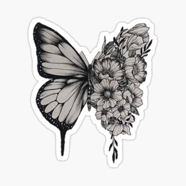 Butterfly Tattoo Shawn Mendes Sticker