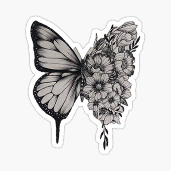 Tatuaje De La Mariposa Shawn Mendes Pegatina