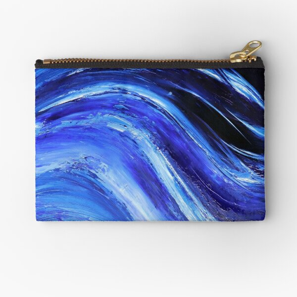 My Blue Ocean Oilpainting Zipper Pouch