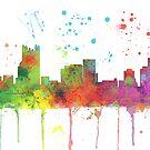 Pittsburgh, Pennsylvannia-Skyline von Marlene Watson