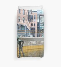 Man on stilts Duvet Cover