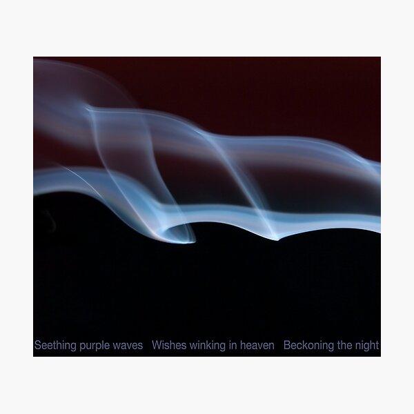 Smoky blues Night waves Photographic Print