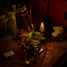 Victorian Microscopy by Candlelight by Gazart