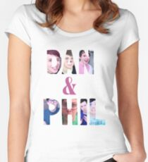 DAN & PHIL PICTURE DESIGN. Women's Fitted Scoop T-Shirt