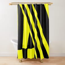BLACK and YELLOW DAZZLE Shower Curtain