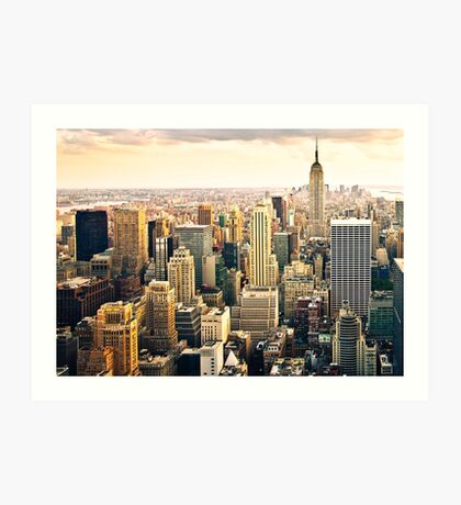 Skyline of Manhattan, NYC Art Print