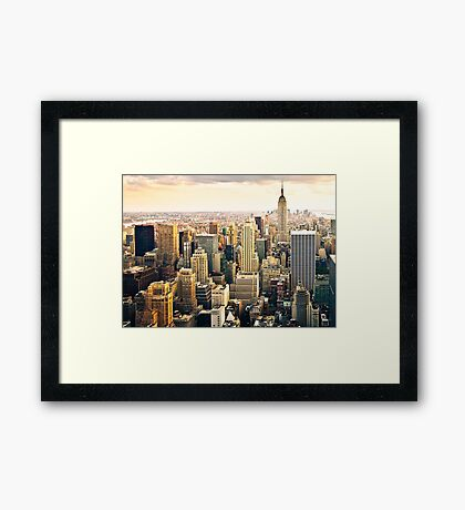 Skyline of Manhattan, NYC Framed Print