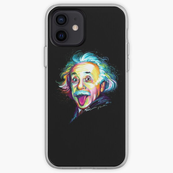Albert Einstein Funda blanda para iPhone