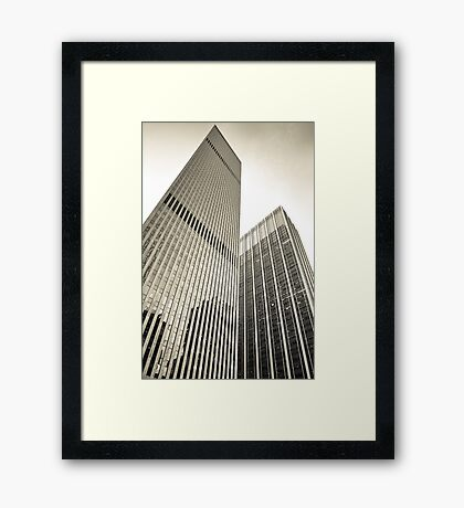 Skyscrapers in Manhattan, NYC Framed Print