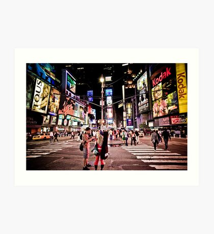 Nightlife on Times Square in Manhattan, NYC Art Print