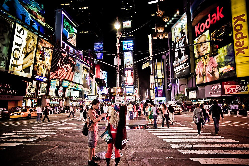 Nightlife on Times Square in Manhattan, NYC by danwa