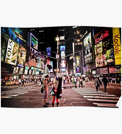 Nightlife on Times Square in Manhattan, NYC Poster