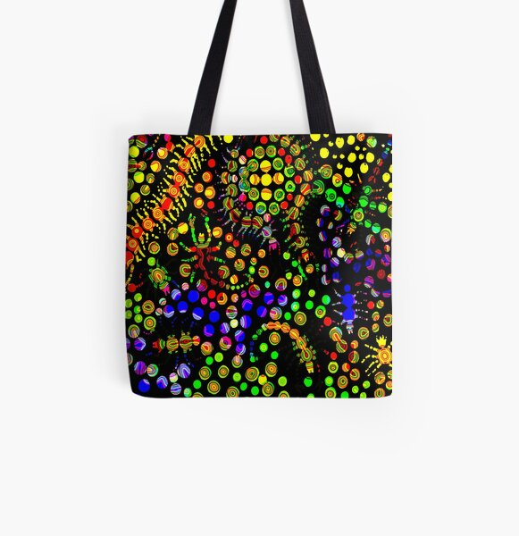 Creeping Marbles All Over Print Tote Bag
