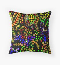 Creeping Marbles Throw Pillow