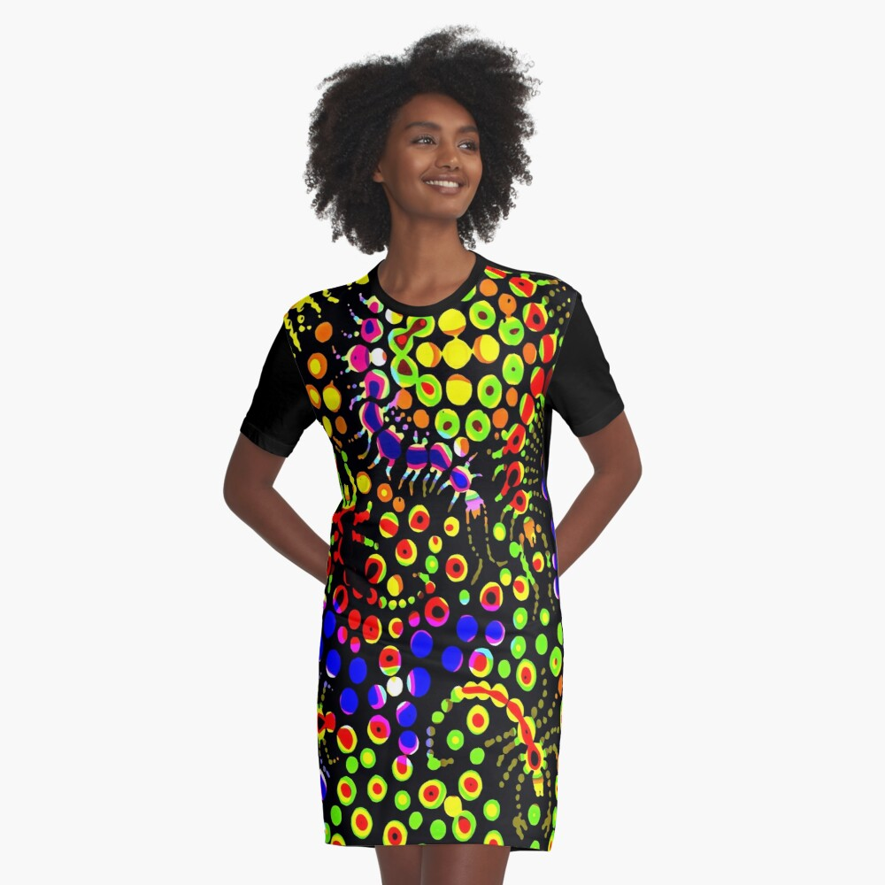 Tropical Candy Graphic T-Shirt Dress