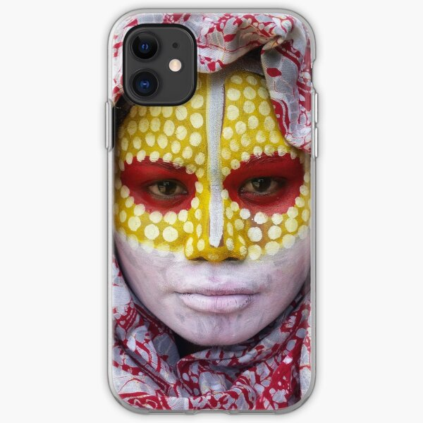 #498 NATHALIE LE RICHE - ART AND GIFTS - PAINTED TRIBAL FACE ART AND PHOTOPHRAPHY- I Will Get Through This  iPhone Soft Case