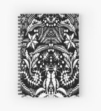 White and Black Jungle Spiral Notebook
