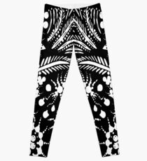 White and Black Jungle Leggings