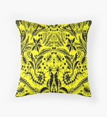 Black and Yellow Jungle Throw Pillow