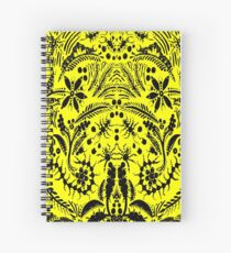 Black and Yellow Jungle Spiral Notebook
