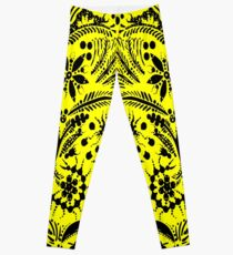 Black and Yellow Jungle Leggings