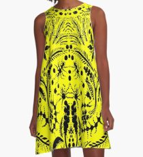 Black and Yellow Jungle A-Line Dress