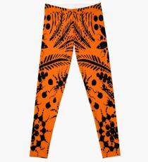 Black and Orange Jungle Leggings