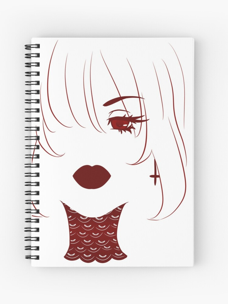 Beautiful Gothic Girl W Red Lips And Anime Eyes A Simple
