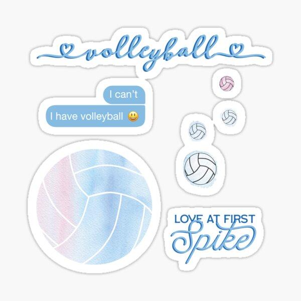 Light Blue Watercolor Volleyball Sticker Pack Sticker