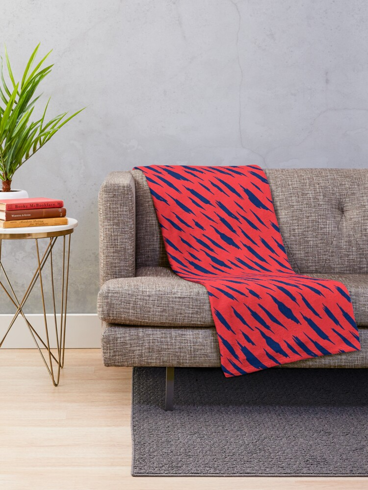 Alternate view of  Abstract pattern Throw Blanket