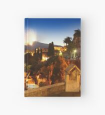 Etna eruption, view from Taormina, Sicily - ITALY Hardcover Journal
