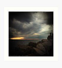Storm Notes - Piran, Slovenia Art Print